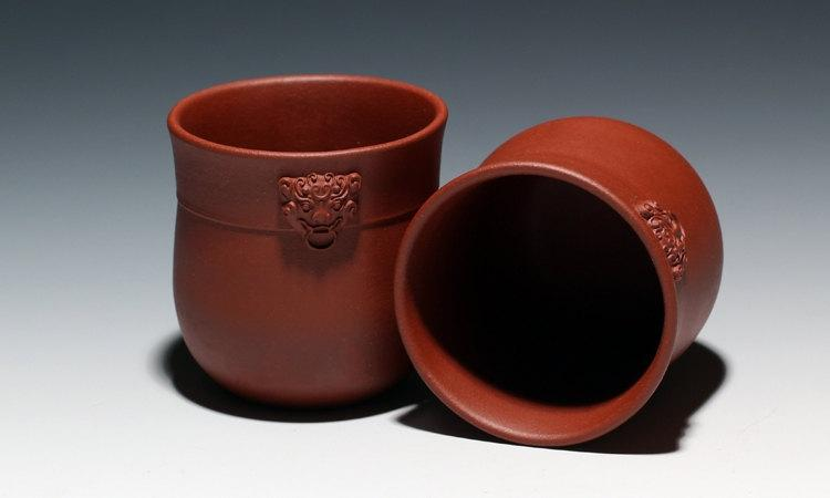 6 Hand-Made Zisha Clay Tea Cup Yixing Pottery Handmade Zisha Clay Teapot Guaranteed 100%Genuine Original Mineral Fired