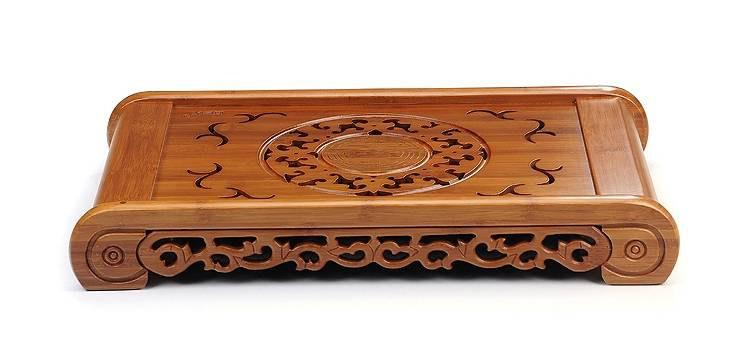 Bamboo Tea Tray Displaying And Serveing Tea Tea Tray Handicraft Chinese Kung-Fu Tea Set Chinese Teaism Practice.