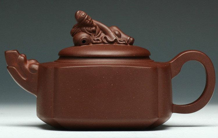 Li Bai Poem Teapot Yixing Pottery Handmade Zisha Clay Teapot Guaranteed 100%Genuine Original Mineral Fired