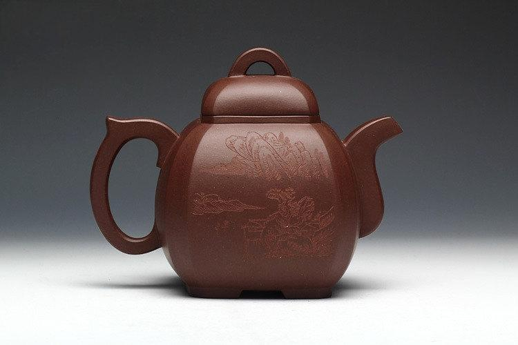 Ba Fang Teapot Premium And Treasure Yixing Zisha Pottery Handmade Zisha Clay Teapot Guaranteed 100%Genuine Original Mineral Fired