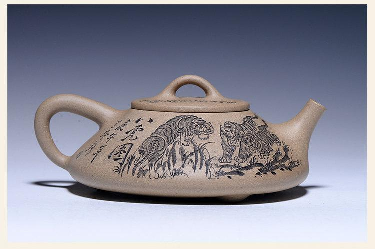 8 Tigers Teapot Premium And Treasure Yixing Zisha Pottery Handmade Zisha Clay Teapot Guaranteed 100%Genuine Original Mineral
